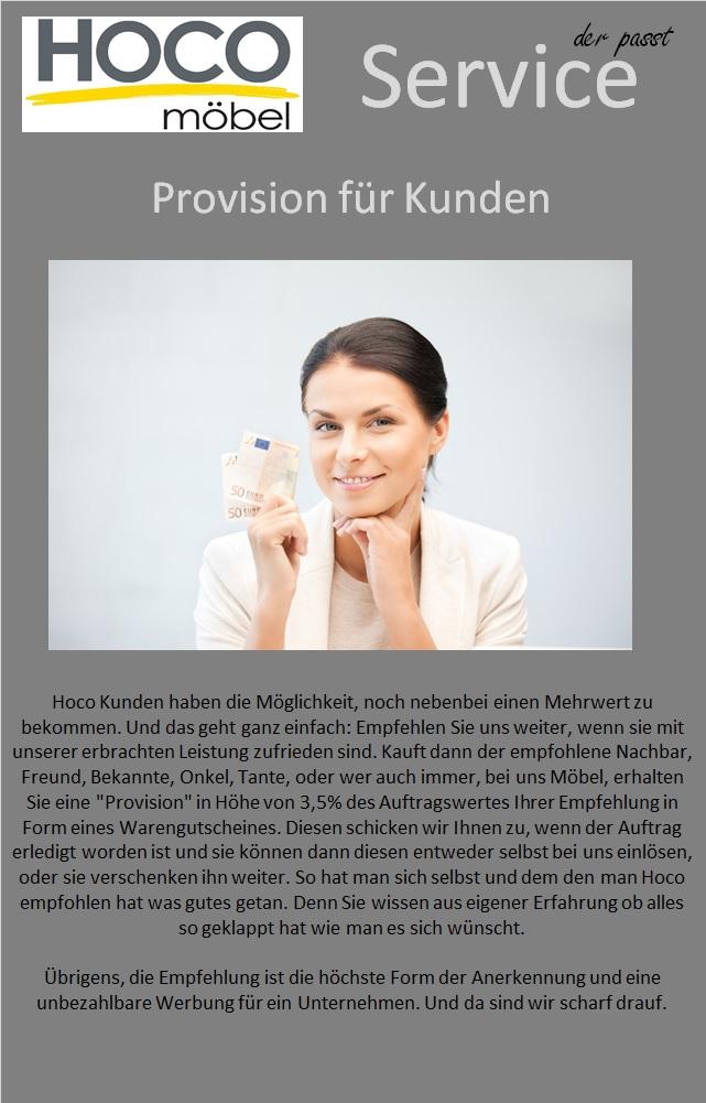 Provision für Kunden